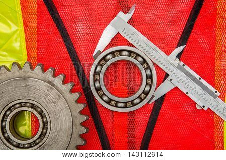 gears and caliper on graph paper uniforms