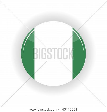 Federal Republic of Nigeria icon circle isolated on white background. Abuja icon vector illustration