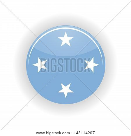 Federated States of Micronesia icon circle isolated on white background. Palikir icon vector illustration