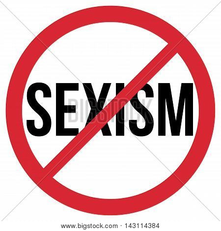 No Sexism red and black isolated symbol