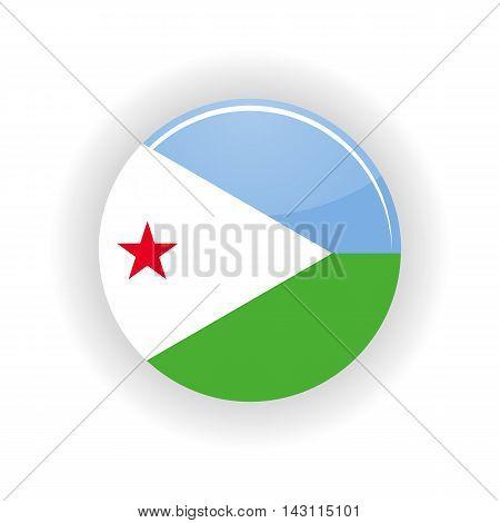 Djibouti icon circle isolated on white background. Djibouti icon vector illustration