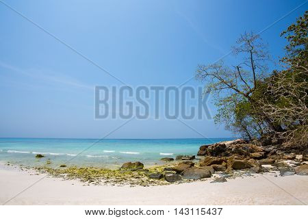Untouched tropical beach in Phang Nga Province Thailand : Koh Ta Chai