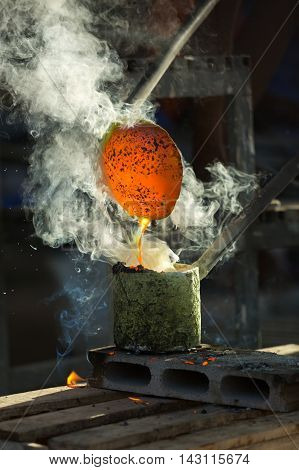 Metal Casting, Concept artificial artistic movement / the casting.