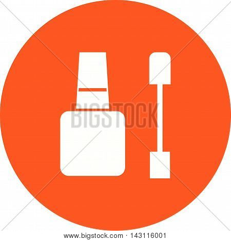 Nail, manicure, brush icon vector image. Can also be used for spa. Suitable for use on web apps, mobile apps and print media.
