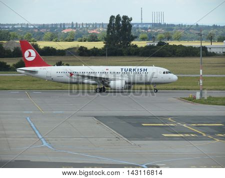 Turkish Airlines Airbus A320 On The Runway