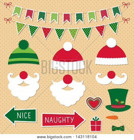 Christmas Santa Claus photo booth props and decoration