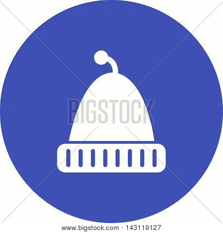 Cap, hat, knit icon vector image. Can also be used for celebrations. Suitable for web apps, mobile apps and print media.
