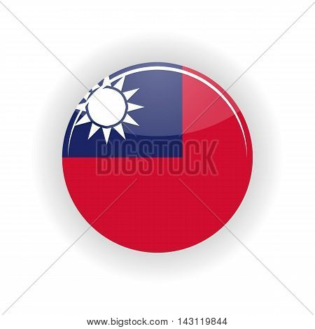 Taiwan icon circle isolated on white background. Taipei icon vector illustration