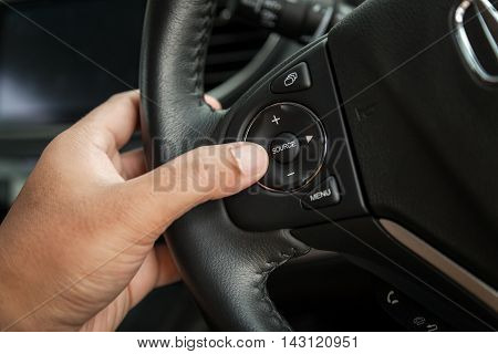 car interior - devices the concept of driving