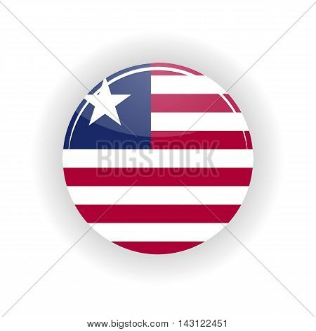 Liberia icon circle isolated on white background. Monrovia icon vector illustration
