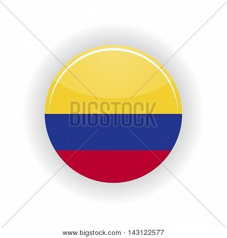 Colombia icon circle isolated on white background. Bogota icon vector illustration