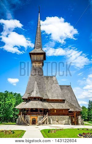 Sapanta Romania. Peri Monastery in Maramures Transylvania. Highest wooden church from the world.