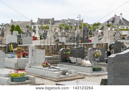 graveyard in a town named Carnac in the Morbihan department in Brittany France