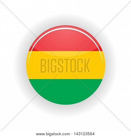 Bolivia icon circle isolated on white background. Sucre icon vector illustration