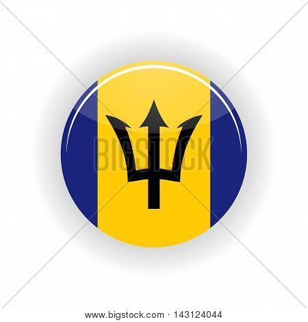 Barbados icon circle isolated on white background. Bridgetown icon vector illustration