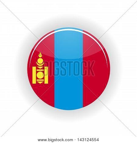 Mongolia icon circle isolated on white background. Ulaanbaatar icon vector illustration