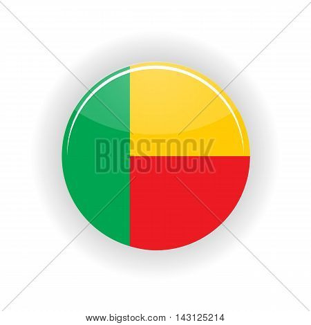 Benin icon circle isolated on white background. Porto Novo icon vector illustration