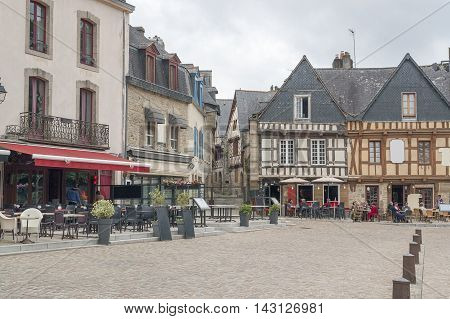 scenery in a french city named Auray located in the Morbihan department in Brittany