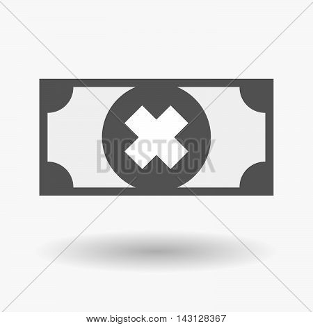 Isolated Bank Note Icon With An Irritating Substance Sign