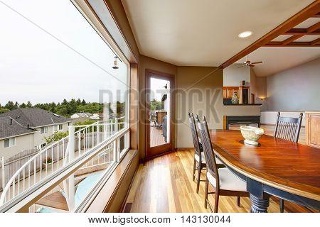 Open Floor Plan Dining Area With Big Window