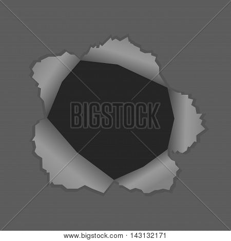 Vector illustration of a black hole for banner, poster with place for simple text
