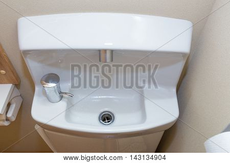 Small compact bathroom sink Japanese style for tight space and small bathroom