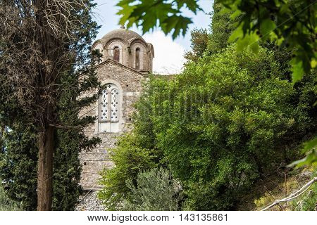Small Church in the forest of Arkadia mountains.