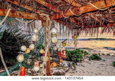 Beachcombers Treasures by the sea in a cabana