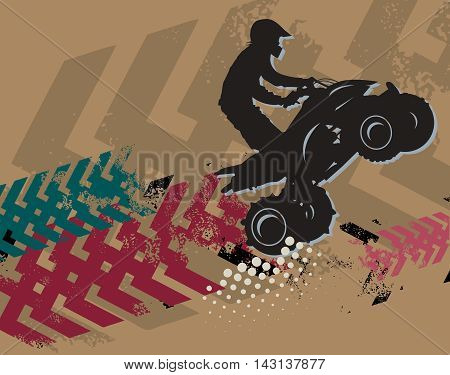 Off-road race jump absctract background, vector illustration