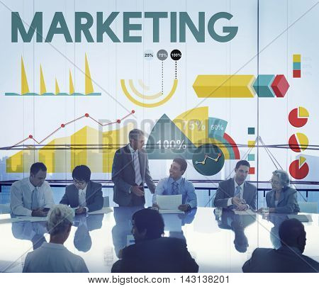 Marketing Percentage Business Chart Concept