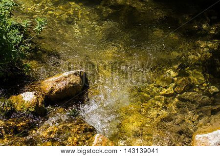 Stream Over Rocks Nature