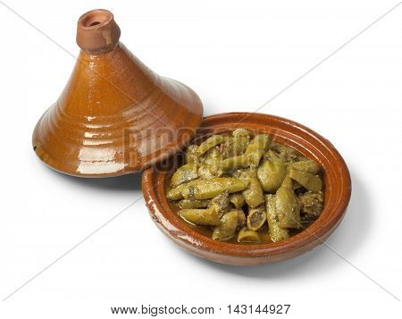 Traditional Moroccan tagine with beef and bottle gourds
