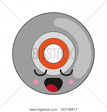 flat design kawaii vinyl icon vector illustration
