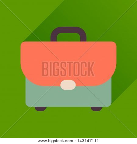 Flat icon with long  shadow business case