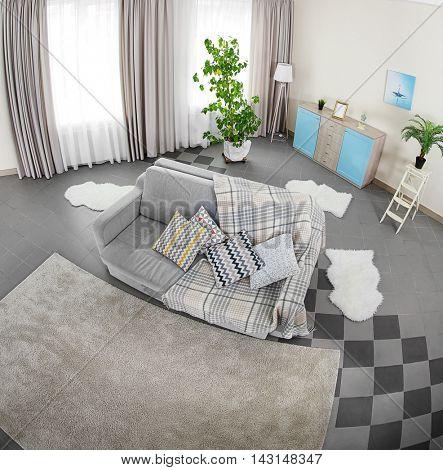 Room interior, top view