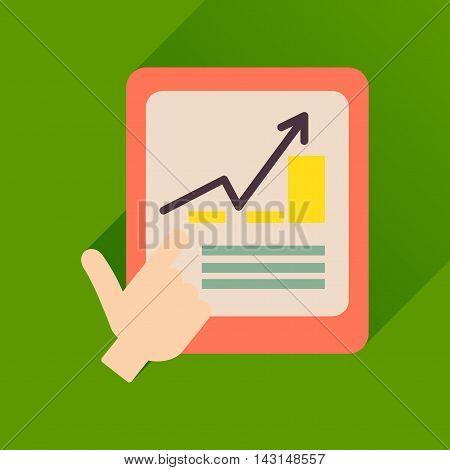 Flat icon with long  shadow economic Presentation