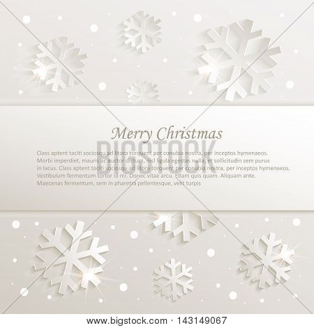 christmas snowflake congratulations background natural vector template