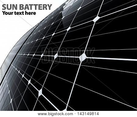 3D Illustrate Of Sun Battery On A White Background
