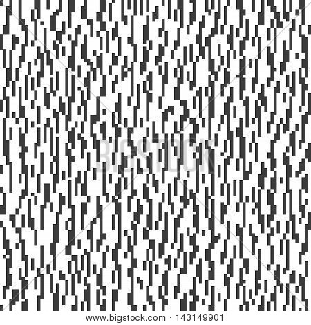 Glitched black and white abstract pattern. Texture for a background.