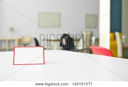 White table for sale in furniture store
