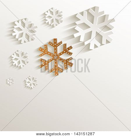 christmas snowflake gingerbread natural paper 3D raster