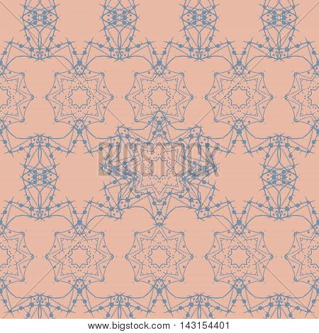 Mandala seamless, tribal vintage background with a medallion. Pattern with abstract art flower for Tibetan yoga. Bohemian decorative element, indian henna design, vector retro circle ornament