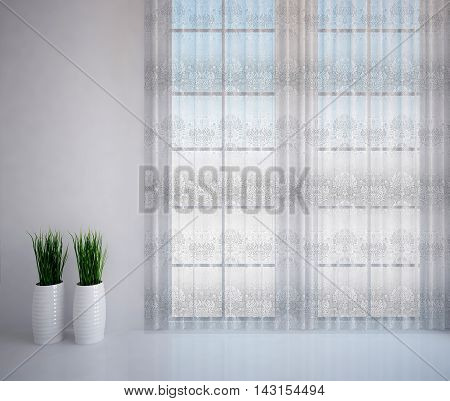 white room image and tulle , room decoration