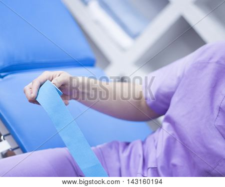 Physiotherapist Tape Taping
