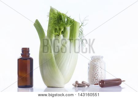 Declination of a fennel plant part healing herbal medicine