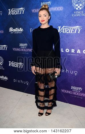 LOS ANGELES - AUG 16:  Peyton List at the Variety Power of Young Hollywood Event at the Neuehouse on August 16, 2016 in Los Angeles, CA
