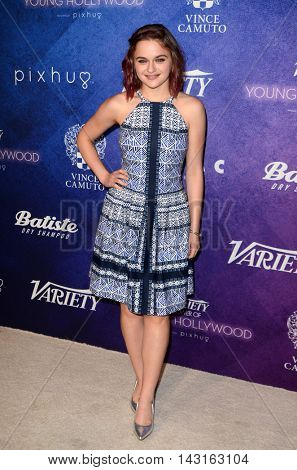 LOS ANGELES - AUG 16:  Joey King at the Variety Power of Young Hollywood Event at the Neuehouse on August 16, 2016 in Los Angeles, CA