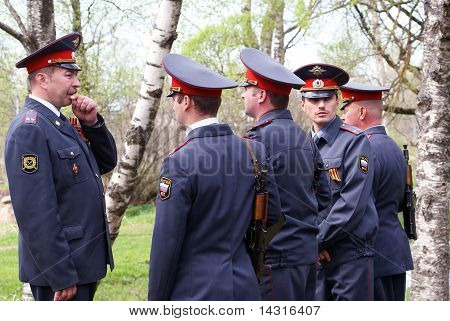 Instructing of militian patrol