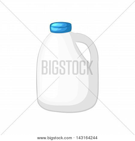 Milk in the canister. Cartoon icon. Isolated object on a white background. Vector illustration.