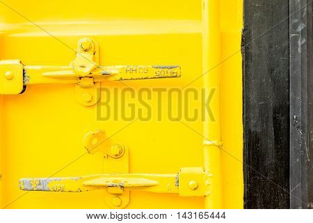 image of old zinc yellow and black color